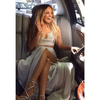 formal famous clothes celebrity style samantha jade glamourous aria's 2014 australia australian awards singer ombre hair smiling celebrity tan skin