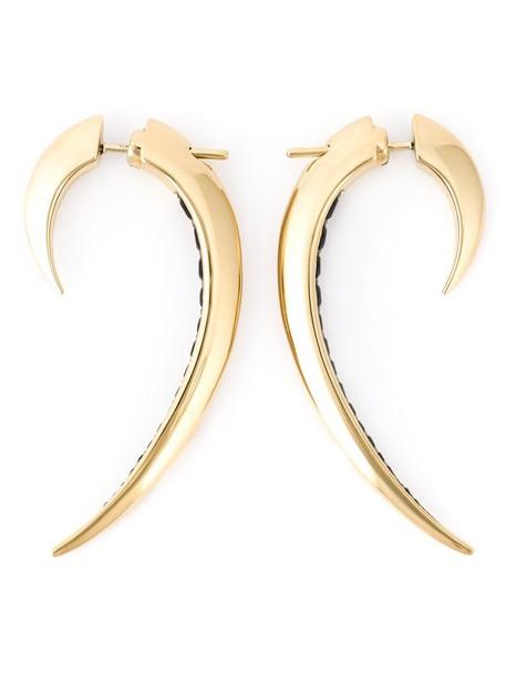 SHAUN LEANE women earrings silver grey metallic jewels