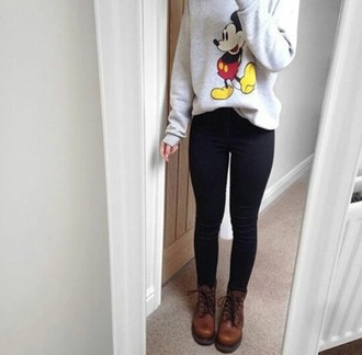 top mickey mouse grey