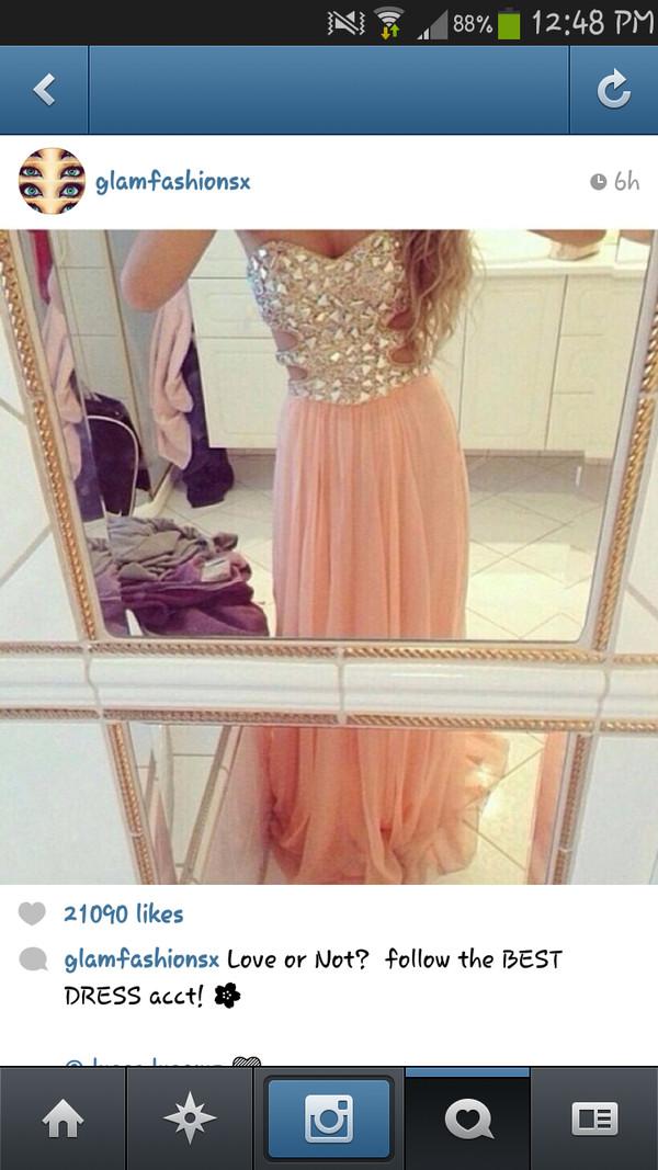 dress long dress beige dress