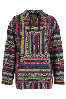 Coloured aztec blanket jacket