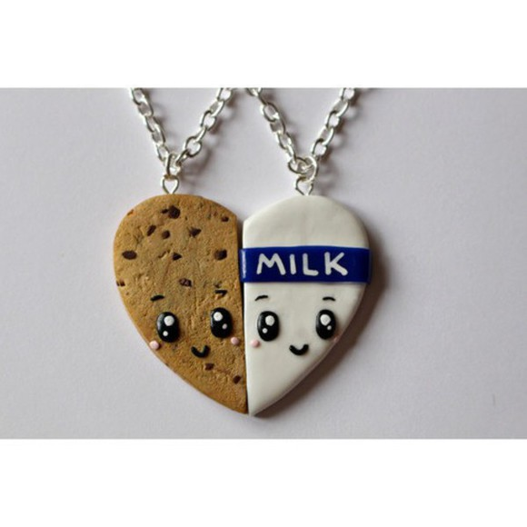 heart jewels necklace milk cookie complementary