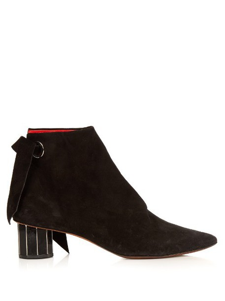 Proenza Schouler heel suede ankle boots boots ankle boots suede black shoes