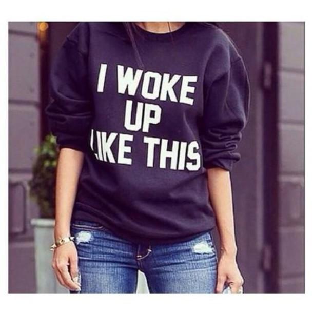shirt black sweater black sweatshirt