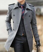 trench coat,coat,jacket,menswear,pea coat,grey coat,instagram