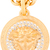 Versace - Matte Gold & Crystal Medallion necklace | SSENSE