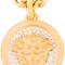 Versace - matte gold & crystal medallion necklace   ssense