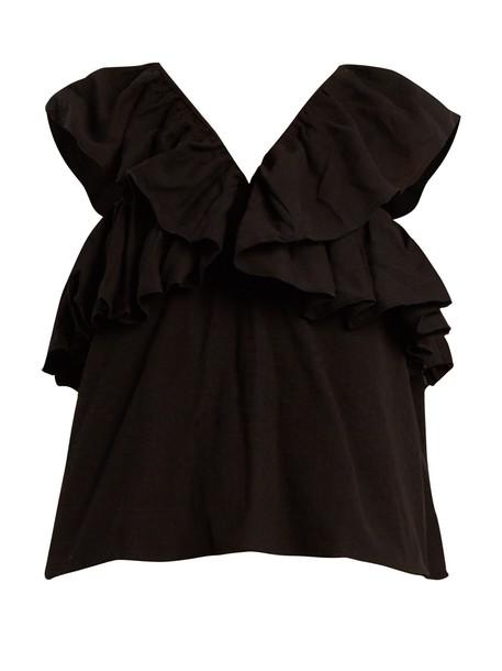 CECILIE COPENHAGEN top jacquard cotton black