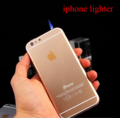 home accessory,new design led cigarette lighter for iphone 6 fashion gasoline refillable fire lighters windproof ga