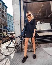 dress,dresss,black dress,short dress,wrap dress,sunglasses,shoes,sneakers