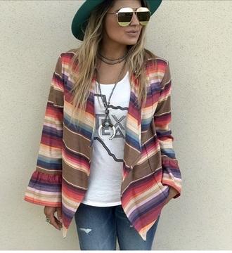 jacket boutique cute multicolor southern