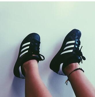 shoes black and white black black shoes adidas superstars cute shoes cute black adidas shoes black adidas