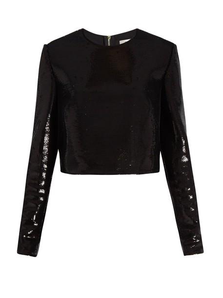 Diane Von Furstenberg top back zip black
