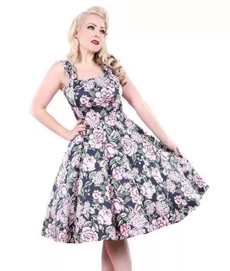dress black pink fifties rockbilly retro vintage beautiful gorgeous 50s style pin up