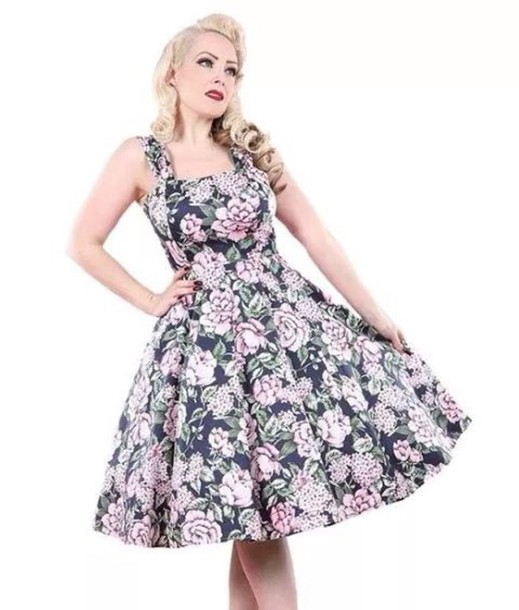 dress black pink fifties 50s style rockbilly retro vintage beautiful gorgeous 50s style Pin up