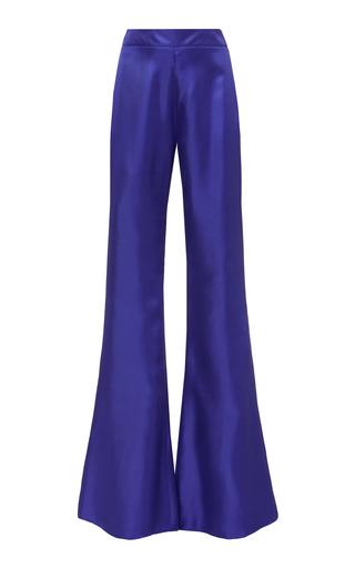 High-Rise Flared Silk Pants by Brandon Maxwell | Moda Operandi