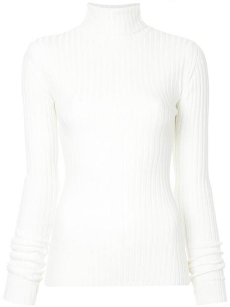 Le Ciel Bleu sweater women white wool knit