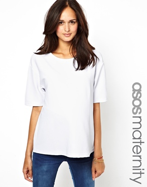 ASOS Maternity | ASOS Maternity T-Shirt in Textured Ottoman at ASOS