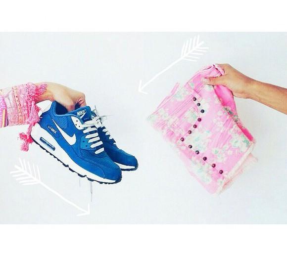 shoes nike running shoes nike free run nike sneakers nike nike air force 1 nike air max 90 nike air floral shorts