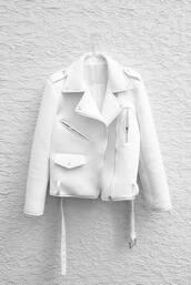 jacket,leather jacket,biker jacket,white