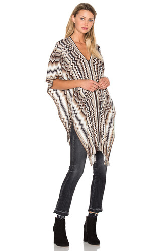 poncho brown top