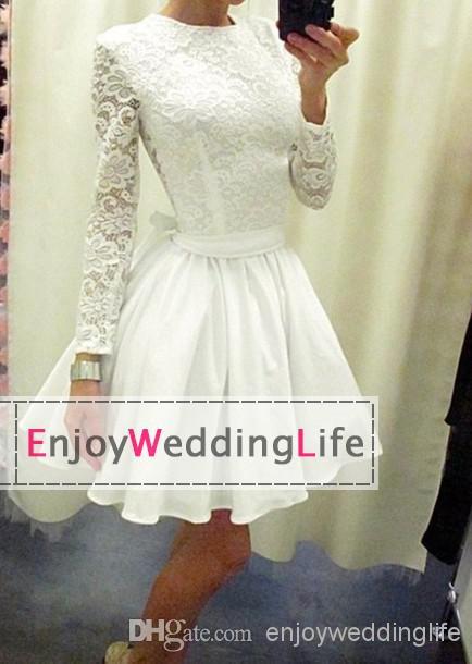 Cheap Cocktail Dresses - Discount White Lace Knee Length Cocktail Dresses Applique Chiffon Online with $100.53/Piece | DHgate