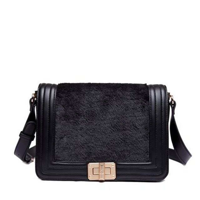 Graceful Montage Design Hasp Flap Fashion Shoulder Bags