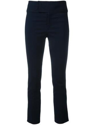 women spandex cotton blue pants