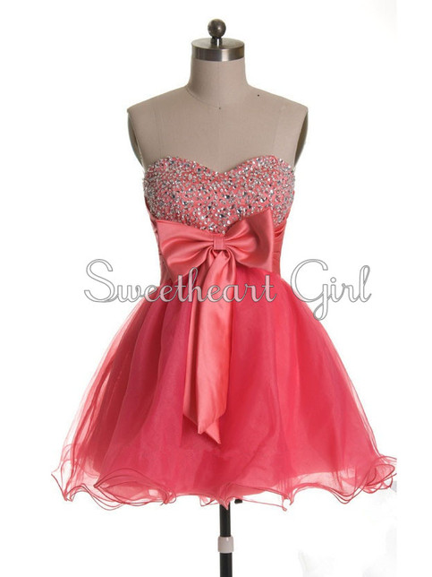 Pink sweetheart neck cocktail prom dress homecoming dresses · sweetheart girl · online store powered by storenvy