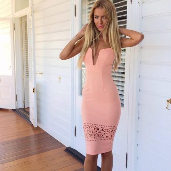 tumblr pink dress light pink tumblr outfit pink dress little pink dress cut-out cut-out dress tumblr girl light pink dress