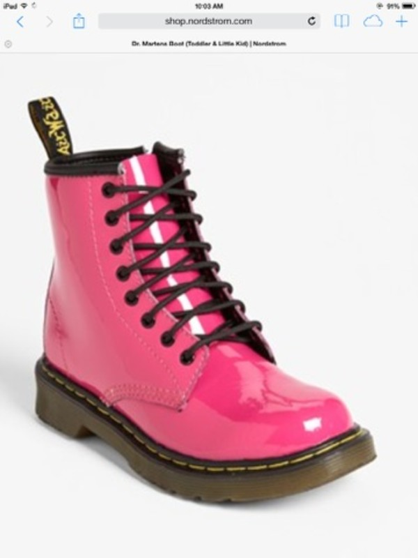 shoes pink doc martens