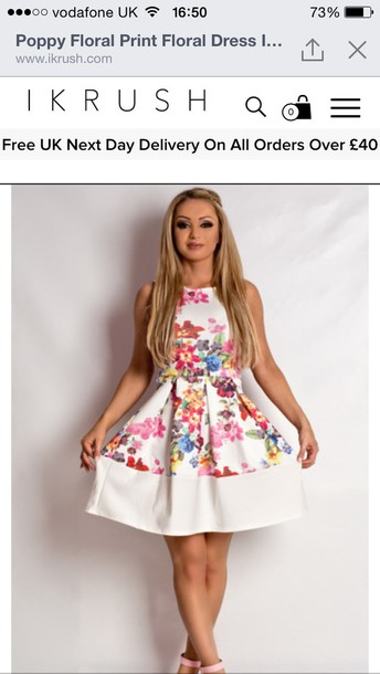 dress floral outfit dress fashion