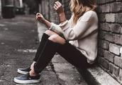 sbstnc,blogger,jeans,sweater,shoes,vans outfits,vans,black jeans,black ripped jeans,ripped jeans,white sweater