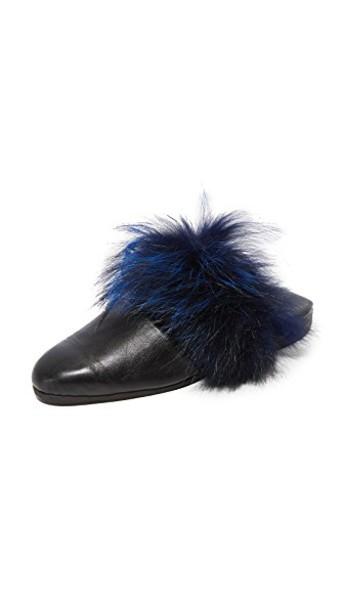 Parme Marin fur blue black shoes