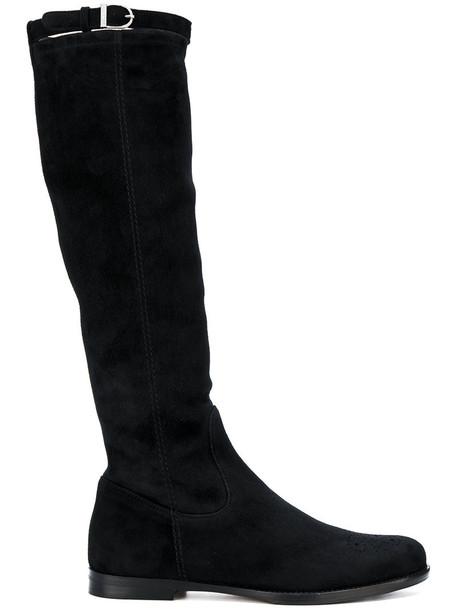 Unützer women leather black shoes