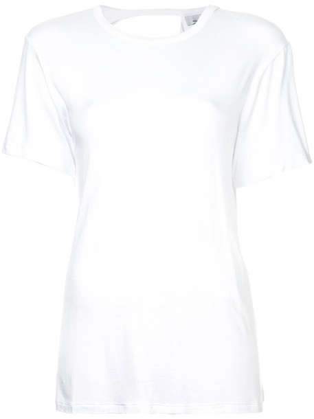 Kacey Devlin top back women spandex white
