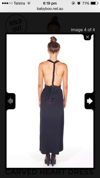 dress black black dress backless twisted backless dress