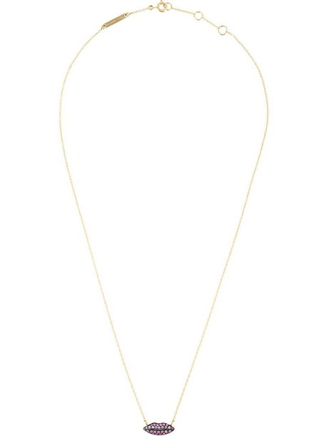 Delfina Delettrez women lips necklace gold purple pink jewels