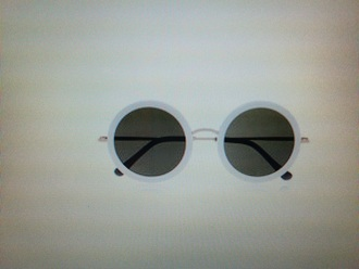 sunglasses black white grey frames glasses sun eye summer eyes round accessory accessories