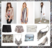 bekleidet,blogger,embellished,pouch,new year's eve,glitter,Sequin shorts,party outfits