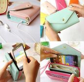 bag,phone cover,iphone,lavender,mint,cool,phone,pastel,crown,pockets,miley cyrus,maxi dress,gown,long dress,classy,wallet,wallet phone case,girly