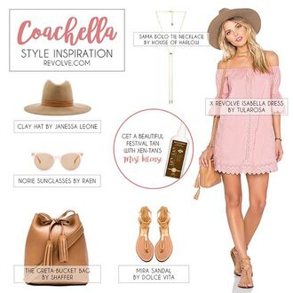dress pink festival sac à dos fashion inspo house of harlow shaffer janessa leone necklace collier gold tularosa pink dress baby pink soft pink blush pink coachella coachella dress music festival sandals flat sandals chaussures zapatos cuir rose chapeau outfit outfit idea sunglasses sunnies raen dolce vita jewels jewelry revolve clothing hat