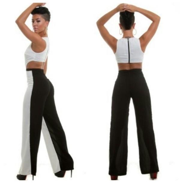 ff9e62d72173 Black White Jumpsuit