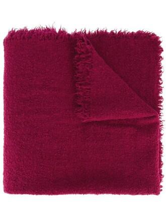 women scarf wool purple pink
