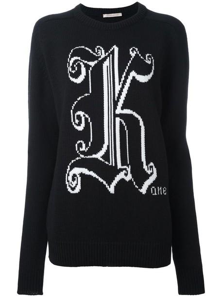 CHRISTOPHER KANE sweater women black wool