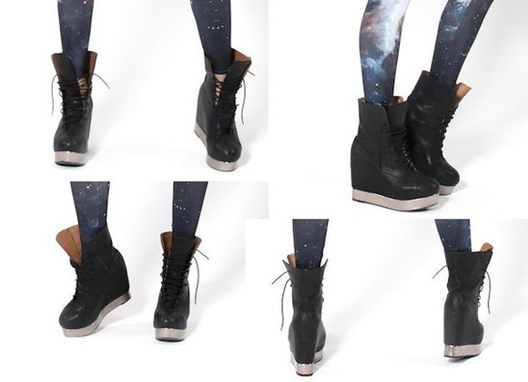 Black Milk shoes platform shoes platform sneakers high top sneaker