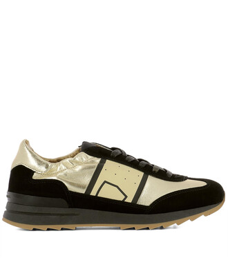 sneakers gold leather shoes