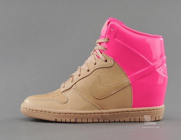 fashion style shoes nike snikers pink sky