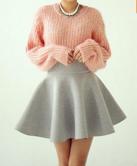 Vintage High Waist Cotton Skirts