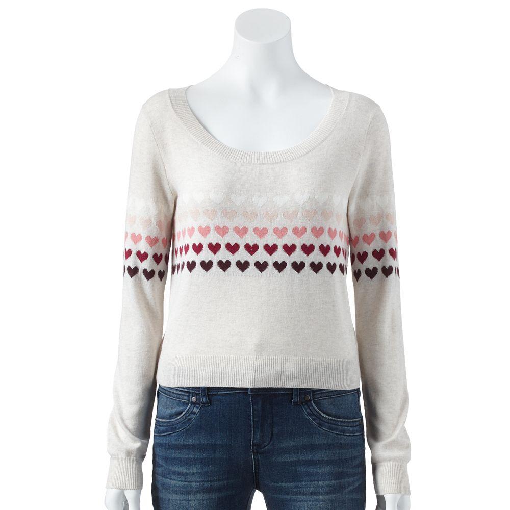 Lc lauren conrad heart crop sweater